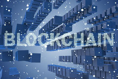 The concept of blockchain in modern business - 3d rendering Stock Photography