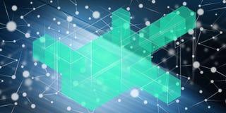Concept blockchaintechnologie Stock Afbeeldingen