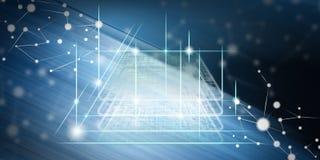 Concept blockchaintechnologie Royalty-vrije Stock Foto's