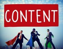 Concept Blogging satisfait de publication de communication photo stock