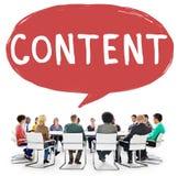 Concept Blogging satisfait de publication de communication images libres de droits