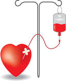 Concept of blood donation Royalty Free Stock Images