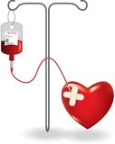 Concept of blood donation Stock Image