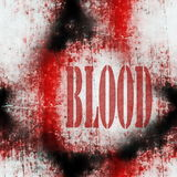 Concept blood wall grungy background Royalty Free Stock Photo
