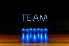 Concept blue team, teamwork, collaboration chalk text Royalty Free Stock Photo