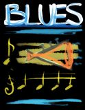 Concept blues and trumpet background Royalty Free Stock Images