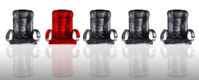Concept of Board of Directors Meeting Chairs and Table Royalty Free Stock Photography