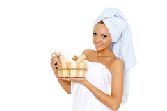 Concept  of body care. Stock Images
