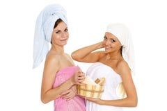 Concept  of body care. Stock Photos