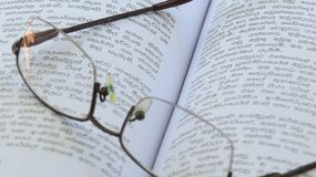 Concept reading glasses background royalty free stock image