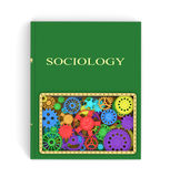 The concept of the book on sociology. Of shesternyamy.3D illustration Stock Photo