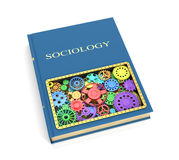 The concept of the book on sociology. Of shesternyamy.3D illustration Royalty Free Stock Images