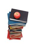 Concept with books and apple. Back to school concept with books and apple Stock Images