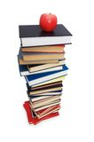 Concept with books and apple. Back to school concept with books and apple Royalty Free Stock Photography