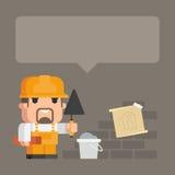 Concept bouwer en de bouw stock illustratie