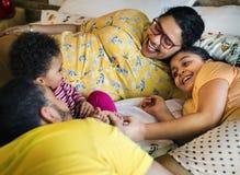 Concept brésilien heureux de famille ensemble Photo stock