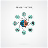 Concept of brain function for education and science, business si. Gn.Vector illustration Stock Image