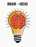 Concept of brain and ideas innovation in business Stock Images