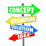 Concept Brainstorm Solution Idea Words Arrows Creativity Royalty Free Stock Photos