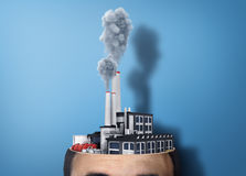 Concept of brainstorm. Royalty Free Stock Photos