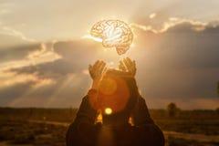 Concept brainstorming in zaken stock fotografie