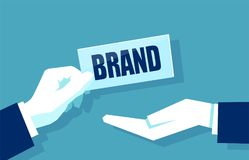 Concept of brand building vector illustration Stock Photos