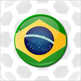 Concept for Brazil 2014 football championship Stock Images