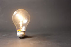 Concept of bright idea with light bulb