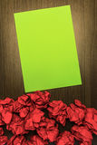 Concept brilliant or good idea. With highlighted green paper and. Concept brilliant or good idea, better than the rest. With highlighted green paper and red Royalty Free Stock Photos
