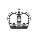 Concept of British Crown  on White Background Royalty Free Stock Image