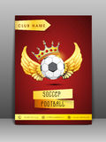 Concept of brochure, flyer and template for sport club. Royalty Free Stock Image