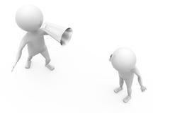 concept bruyant de haut-parleur de l'homme 3d Image libre de droits