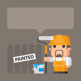 Concept builder and painting Royalty Free Stock Photo