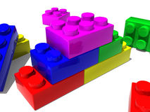 Concept building blocks Royalty Free Stock Photos