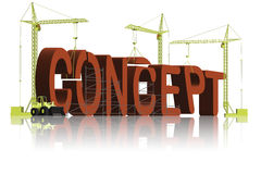 Concept building conceptual creation 3D icon Stock Photo