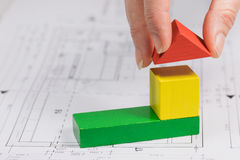 The concept of building a house Royalty Free Stock Photography