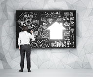 Concept of building a house Royalty Free Stock Images