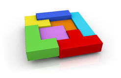 Concept of building and problem solving Stock Photo