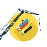 Concept of building project. Illustration Stock Images