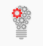 Concept bulb. This is file of EPS10 format Royalty Free Stock Photo