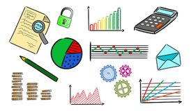 Concept of business analysis. Illustration of a business analysis concept Stock Photos