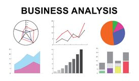 Concept of business analysis. Illustration of a business analysis concept Royalty Free Stock Photography
