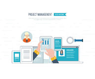 Concept for business analysis, investment, consulting, strategy planning, project management. Concept for business analysis, financial report, investment Stock Image