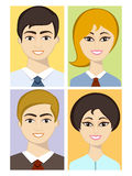 Concept of business avatars. Stock Photography