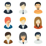 Concept of business avatars. Royalty Free Stock Photography