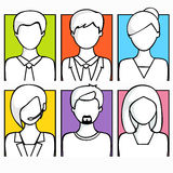 Concept of business avatars. Stock Photos