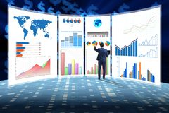 The concept of business charts and finance visualisation royalty free stock images