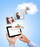 Concept for business and cloud computing Royalty Free Stock Photo