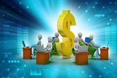 Concept of  business communication with dollar sign Stock Image