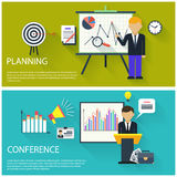 Concept for business conference and presentation Stock Photos